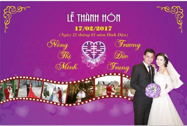 In phông bạt đám cưới Hà Nội
